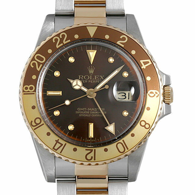 【48回払いまで無金利】SALE ロレックス GMTマスター 16753 ブラウン/フジツボ 90番 メンズ(06V4ROAU0002)【中古】【腕時計】【送料無料】
