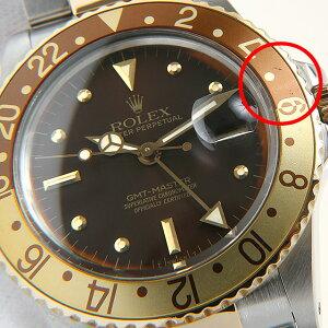 【48回払いまで無金利】ロレックス GMTマスター 16753 ブラウン/フジツボ 90番 メンズ(06V4ROAU0002)【中古】【腕時計】【送料無料】