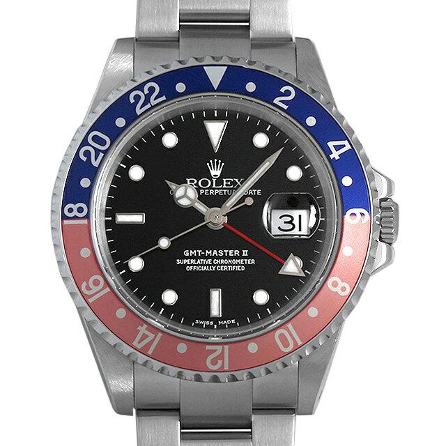 【48回払いまで無金利】ロレックス GMTマスターII 赤青ベゼル 16710 K番 メンズ(0LCKROAU0001)【中古】【腕時計】【送料無料】