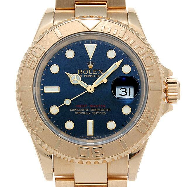 【48回払いまで無金利】ロレックス ヨットマスター 16628 ブルー W番 メンズ(007UROAU0469)【中古】【腕時計】【送料無料】