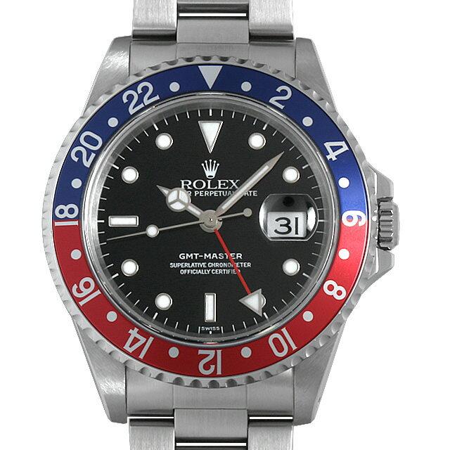 【48回払いまで無金利】ロレックス GMTマスター 赤青ベゼル 16700 A番 メンズ(007UROAU0547)【中古】【腕時計】【送料無料】
