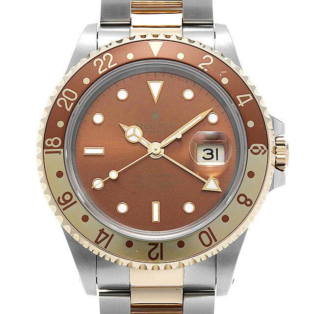 【48回払いまで無金利】ロレックス GMTマスターII 16713 ブラウン X番 メンズ(009VROAU0266)【中古】【腕時計】【送料無料】