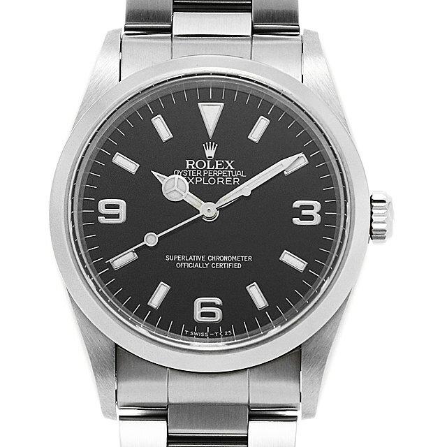 【48回払いまで無金利】ロレックス エクスプローラーI 14270 ブラック U番 メンズ(0087ROAU0152)【中古】【腕時計】【送料無料】