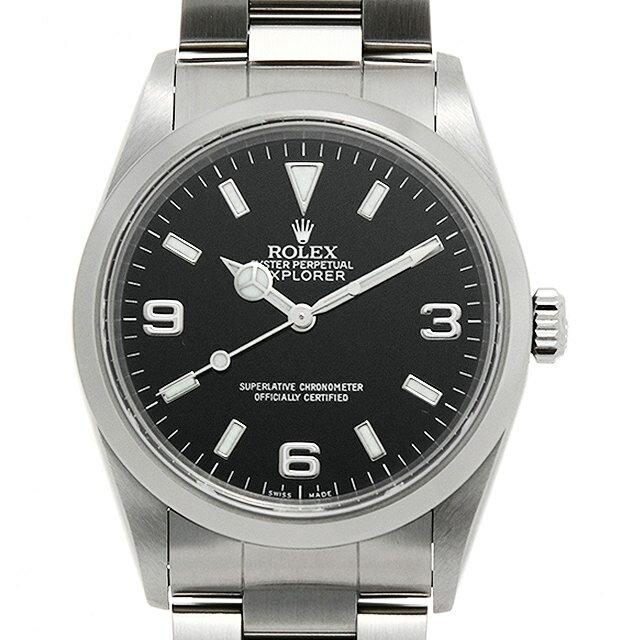 【48回払いまで無金利】ロレックス エクスプローラーI 14270 A番 メンズ(09I0ROAU0003)【中古】【腕時計】【送料無料】