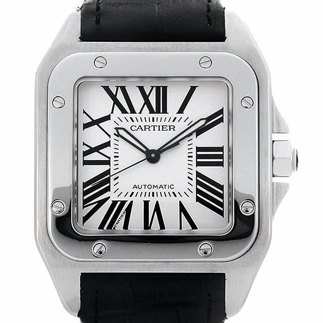 【48回払いまで無金利】カルティエ サントス100 LM W20073X8 メンズ(0MHNCAAU0001)【中古】【腕時計】【送料無料】