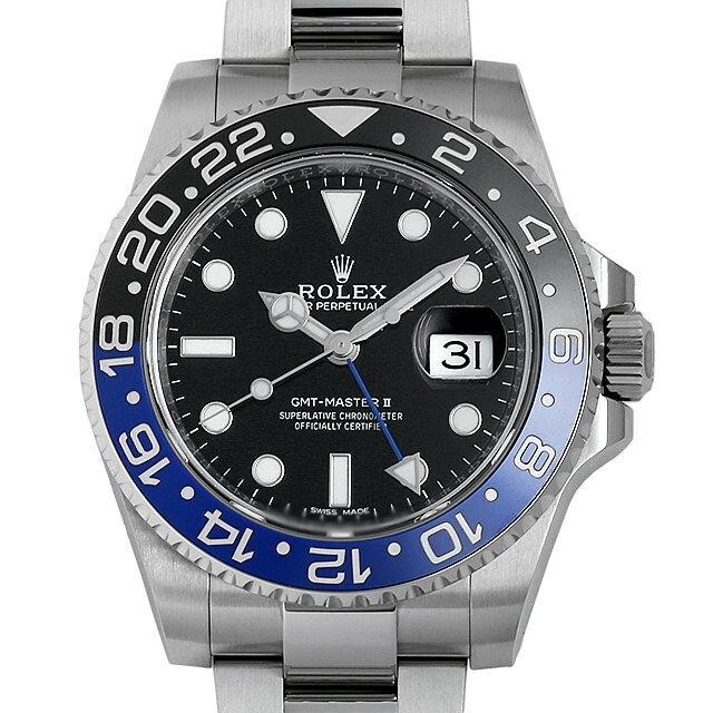【48回払いまで無金利】ロレックス GMTマスターII 116710BLNR メンズ(03PHROAU0001)【中古】【腕時計】【送料無料】