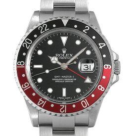【48回払いまで無金利】ロレックス GMTマスターII 赤黒ベゼル スティックダイアル Z番 16710 メンズ(0N59ROAU0001)【中古】【腕時計】【送料無料】