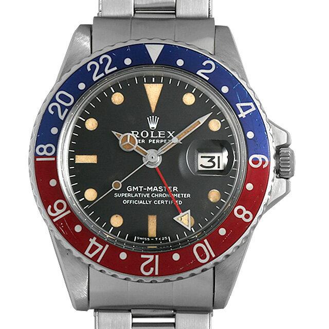 【48回払いまで無金利】ロレックス GMTマスター 赤青ベゼル 1675 ロングE/USリベットブレス 19番 メンズ(0BCCROAA0028)【アンティーク】【腕時計】【送料無料】
