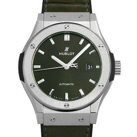 【48回払いまで無金利】ウブロ クラシックフュージョン グリーン チタニウム 542.NX.8970.LR メンズ(0671HBAN0061)【新品】【腕時計】【送料無料】