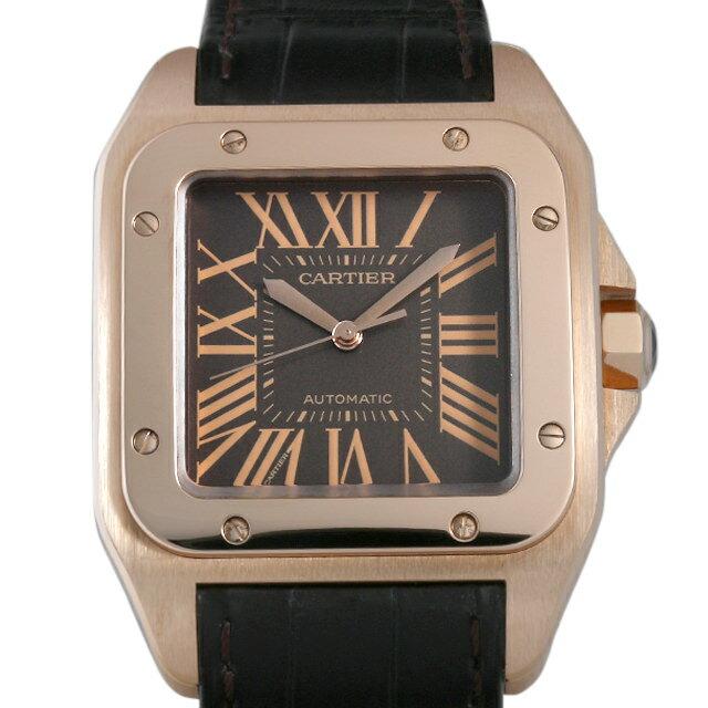 【48回払いまで無金利】カルティエ サントス100 W20127Y1 メンズ(007UCAAU0175)【中古】【腕時計】【送料無料】