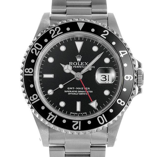 【48回払いまで無金利】ロレックス GMTマスター 黒ベゼル 16700 T番 メンズ(007UROAU0621)【中古】【腕時計】【送料無料】