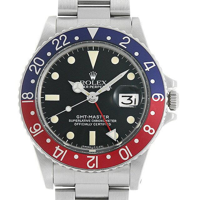 【48回払いまで無金利】ロレックス GMTマスター 赤青ベゼル 1675 29番 メンズ(007UROAA0132)【アンティーク】【腕時計】【送料無料】