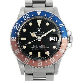 【60回払いまで無金利】ロレックス GMTマスター 赤青ベゼル 1675 51番 メンズ(007UROAA0138)【アンティーク】【腕時計】【送料無料】