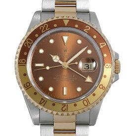 【48回払いまで無金利】ロレックス GMTマスターII 16713 ブラウン N番 メンズ(007UROAU0670)【中古】【腕時計】【送料無料】