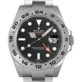 【48回払いまで無金利】ロレックス エクスプローラーII 216570 ブラック ランダムシリアル メンズ(0ZE9ROAS0001)【中古】【未使用】【腕時計】【送料無料】