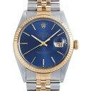【48回払いまで無金利】ロレックス デイトジャスト 16013 ブルー/バー メンズ(0BCCROAU0100)【中古】【腕時計】【送料…