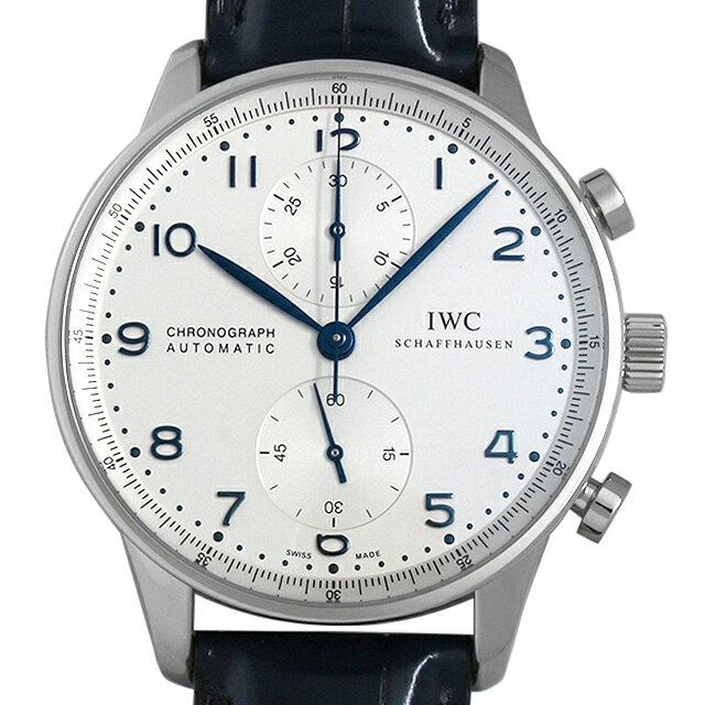IWC ポルトギーゼ クロノグラフ IW371446 ベルト艶あり メンズ(002GIWAN0013)【新品】【腕時計】【送料無料】