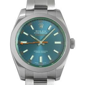 【48回払いまで無金利】ロレックス ミルガウス 116400GV Zブルー メンズ(006XROAU1280)【中古】【腕時計】【送料無料】