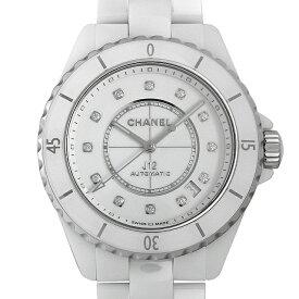【48回払いまで無金利】シャネル J12 白セラミック 12Pダイヤ キャリバー12.1 H5705 メンズ(0671CHAN0492)【新品】【腕時計】【送料無料】
