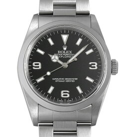 【48回払いまで無金利】ロレックス エクスプローラーI 14270 P番 メンズ(008WROAU0403)【中古】【腕時計】【送料無料】【キャッシュレス5%還元】