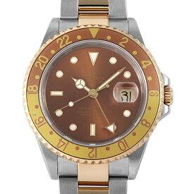 【48回払いまで無金利】ロレックス GMTマスターII 16713 ブラウン P番 メンズ(008KROAU0164)【中古】【腕時計】【送料無料】