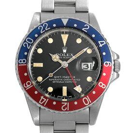 【60回払いまで無金利】ロレックス GMTマスター 赤青ベゼル 16750 フチなし 73番 メンズ(007UROAU1250)【中古】【腕時計】【送料無料】