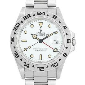 【48回払いまで無金利】ロレックス エクスプローラーII 16550 ホワイト 87番 メンズ(0V2UROAU0002)【中古】【腕時計】【送料無料】