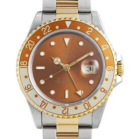 【48回払いまで無金利】ロレックス GMTマスターII 16713 ブラウン S番 メンズ(007UROAU1310)【中古】【腕時計】【送料無料】