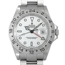 【48回払いまで無金利】ロレックス エクスプローラーII 16570 ホワイト P番 メンズ(006XROAU1491)【中古】【腕時計】【送料無料】