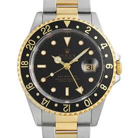 【60回払いまで無金利】ロレックス GMTマスターII 16713 ブラック E番 メンズ(007UROAU1352)【中古】【腕時計】【送料無料】