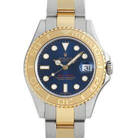【48回払いまで無金利】ロレックス ヨットマスター 168623 ブルー ランダムシリアル ボーイズ(ユニセックス)(0FWNROAU0539)【中古】【腕時計】【送料無料】