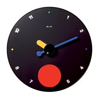 REXITE 所需 CONTRATTEMPO 黑色魂斗罗快节奏摆时钟礼物上很受欢迎 ! 在意大利设计墙上时钟 45 厘米大脸 ☆ 数字和