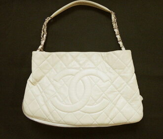 CHANEL Chanel chain shoulder bag caviar skin cream Lady's bag handbag bag bag bag