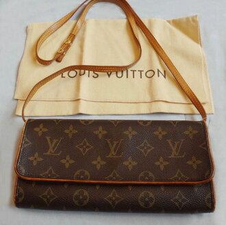 561ed158281b -Ebay-Louis Vuitton Louis Vuitton authentic Monogram Pochette twin shoulder bag  pouch GMebay