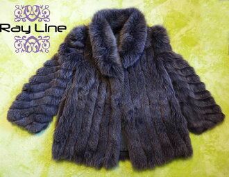 T-薄荷老式 003 狐狸狐狸毛皮外套白色系列