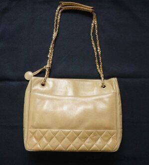 6dbaeb4ef8 CHANEL Chanel   tote   bag   satchel   bag   matelasse   leather   beige    women s   chain   shoulder bag