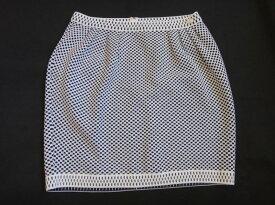 美品 CHANEL シャネル タイトスカート 黒×白 サイズ38 ゴルード スカート 古着 中古 c-003 c16-3561