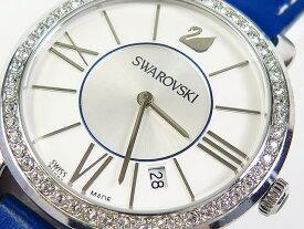 超美品 SWAROVSKI スワロフスキー レディース 腕時計 クォーツ レザー【中古】t-004