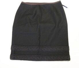 Nicole Miller ニコル ミラー スカート ブラック×ブラウン サイズ4 古着 美品【中古】t-003