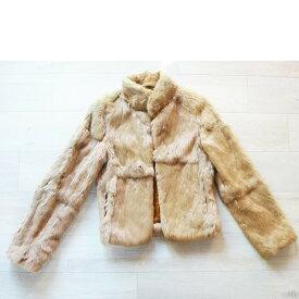 90%OFF ozoc 毛皮 コート FOX フォックス レディース コートサイズ9号 ベージュ系 古着 防寒 暖かい 軽い【中古】t-003