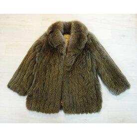 80%OFF 毛皮コート FOX フォックス レディースコートブラウン系 サイズ13 古着 防寒 暖かい【中古】t-003