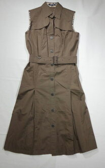 Burberry dress Burberry LONDON Burberry London no sleeve dress size 36 M Lady's brown shirt dress t-003