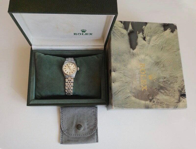 ROLEX ロレックス 腕時計 レディース 6517 オイスターデイト 旧J オーバーホール済み【中古】t-004
