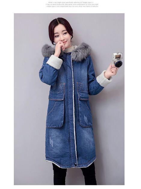 レディース アウター コート ロングコート 防寒 デニムジャケット フード付き M-3XLサイズ ビックサイズ ビック パーカー ビッグtシャツ t-003△△bhz170921-122