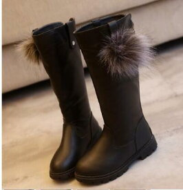 キッズ 秋冬スタイル ファッション ロングブーツ キッズ靴 27〜37サイズ 新品未使用品 t-030△△zj0708