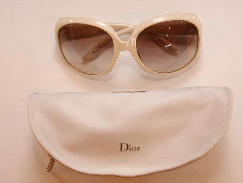 Christian Dior クリスチャン・ディオール サングラス 白 ブラウン系【中古】