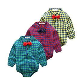 キッズ 2点セット チェック柄シャツ+デニムズボン ベビー服 70〜95サイズ 新品未使用品 t-030△△zj0741