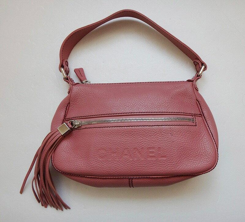 5%OFF CHANEL BAG シャネル ショルダーバッグ キャビアスキン ピンク レディース ハンド 鞄 かばん 【中古】