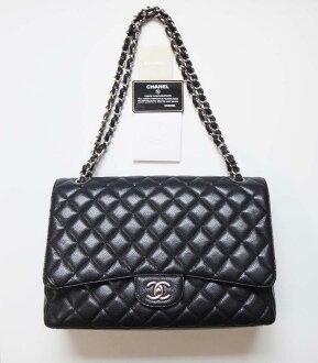 CHANEL Chanel Classic chain shoulder bag caviar skin decamatelasse 34 black Lady's bag