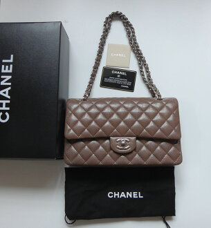 Beautiful article CHANEL Chanel bag matelasse chain shoulder bag 25 caviar skin cocoa silver metal fittings bag bag Lady's bag Gabrielle Chanel more than point 5 times is rare